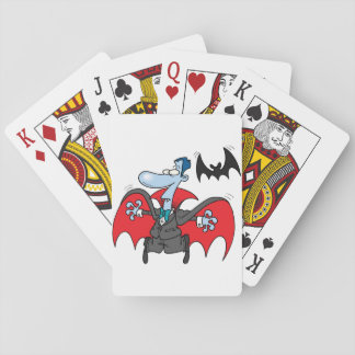 Dracula And A Bat Playing Cards