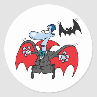 Dracula And A Bat Stickers
