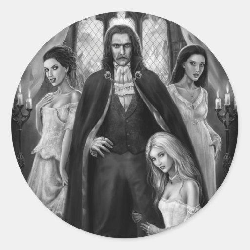 Dracula and his Ladies Classic Round Sticker