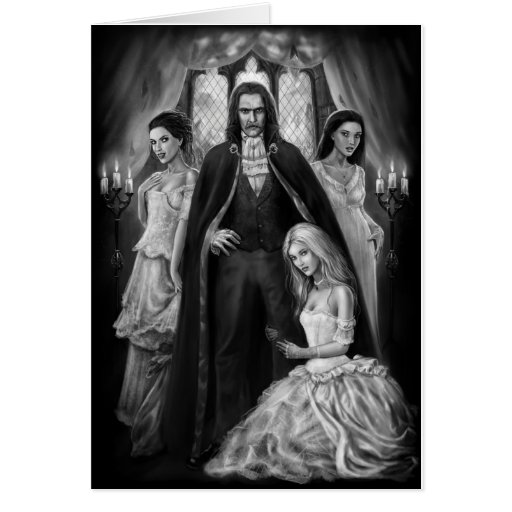Dracula and his Ladies Greeting Card