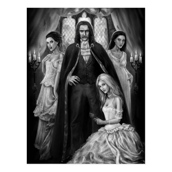 Dracula and his Ladies Postcard