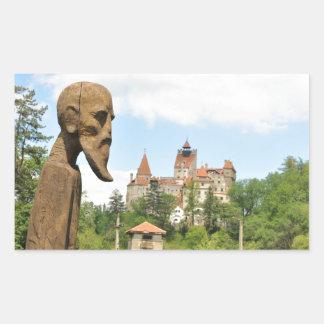 Dracula Castle in Bran, Brasov, Transylvania Rectangular Sticker