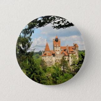 Dracula Castle in Transylvania, Romania Button