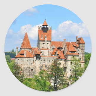 Dracula Castle in Transylvania, Romania Classic Round Sticker