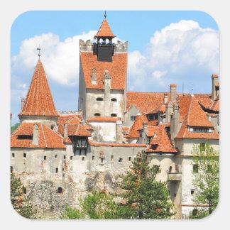 Dracula Castle in Transylvania, Romania Square Sticker