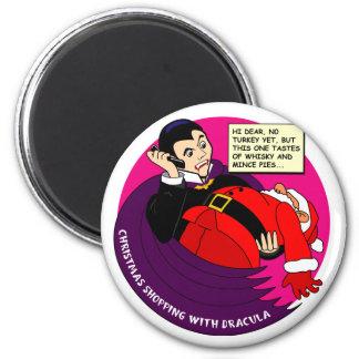 Dracula Christmas Shopping Magnet