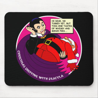 Dracula Christmas Shopping Mouse Pad