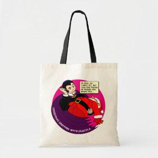 Dracula Christmas Shopping Tote Bag