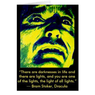 Dracula Christopher Lee Halloween Greeting Card