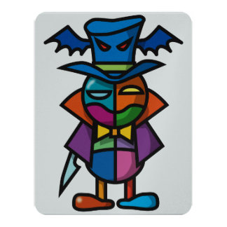 """Drácula colorido invitación 4.25"""" x 5.5"""""""