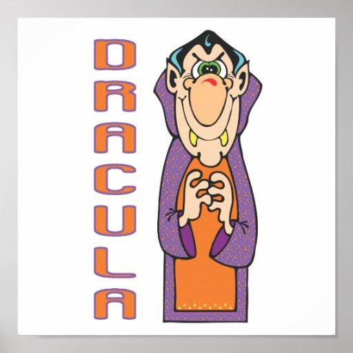 Drácula divertido lindo póster