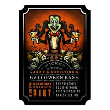 Dracula Halloween Bash Party Fun Invitation by juliea2010 at Zazzle