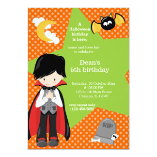 Dracula halloween birthday card