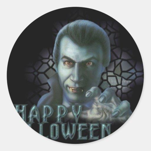 Drácula Halloween Etiquetas