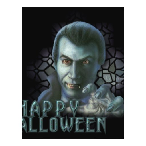 "Drácula Halloween Folleto 8.5"" X 11"""