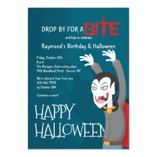 Dracula Halloween Party Invitation