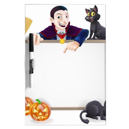 Dracula Halloween Sign Dry-Erase Whiteboards