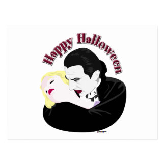 Dracula, Happy Halloween Postcard