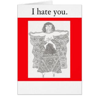 dracula, I hate you. Card