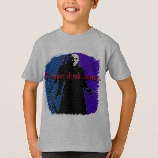 Dracula I Never Drink ... Wine T-Shirt