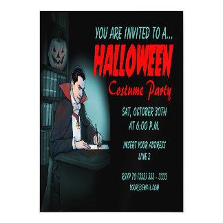 Drácula invita para el fiesta de Halloween Invitaciones Magnéticas