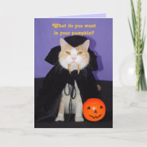 Dracula Kitty Card
