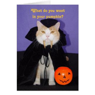 Dracula Kitty Greeting Card