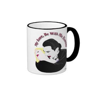 Drácula, mi amor, esté conmigo para siempre taza de café