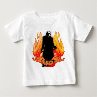 Dracula Nosferatu I SUCK with Flames Baby T-Shirt