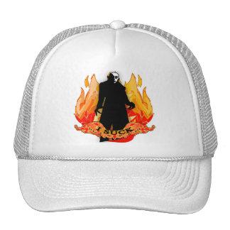 Dracula Nosferatu I SUCK with Flames Trucker Hat