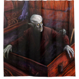 Dracula Nosferatu Vampire Shower Curtain