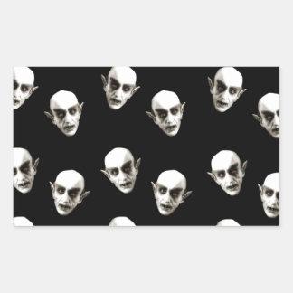 Dracula pattern rectangular sticker