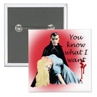Dracula Pinback Button