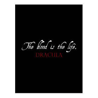 Dracula Quote: The Blood is the Life Postcard