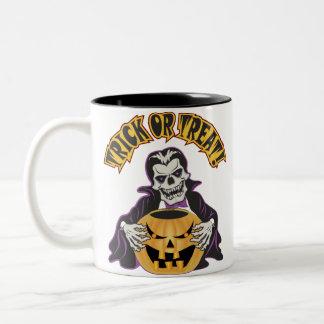 Dracula Skull Two-Tone Coffee Mug