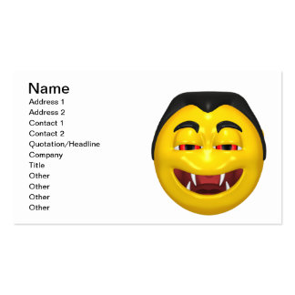 Dracula Smiley Business Card Template