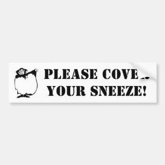 Dracula Sneeze Bumper Sticker