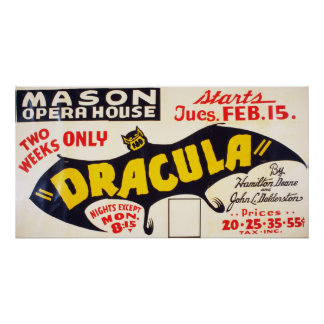 Dracula Stage Play 1927 Poster