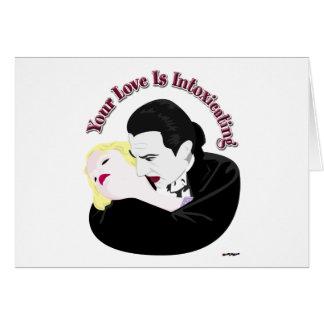 Drácula, su amor está intoxicando tarjeta de felicitación