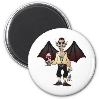 Drácula temido imán redondo 5 cm