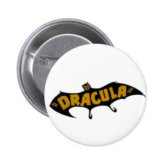 Dracula Vampire Bat Button