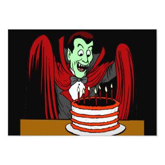 Dracula Vampire Halloween Birthday 5x7 Paper Invitation Card