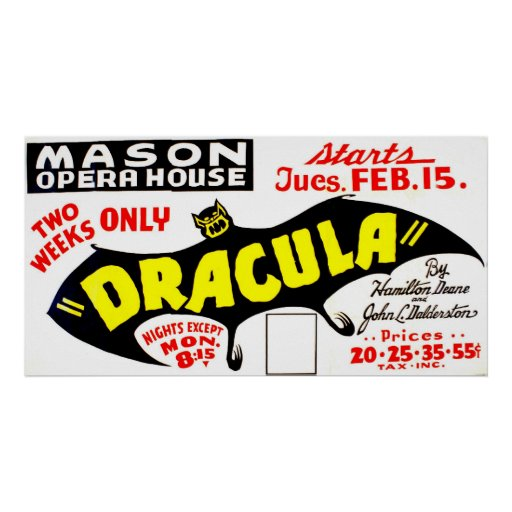 Dracula Vintage 1938 WPA Theater Poster