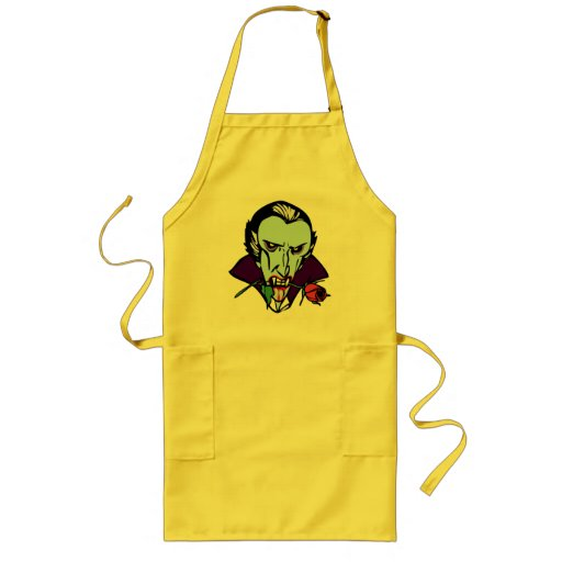 DRACULA WITH ROSE LONG APRON