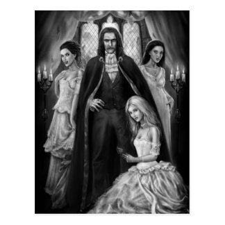 Drácula y sus señoras postal