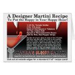 Dracula's Bloody Halloween Martini Recipe Card