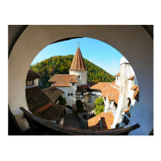 Dracula's Castle, Bran, Through the tower window Postcard