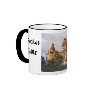 Dracula's castle, Bran, Transylvannia Ringer Coffee Mug