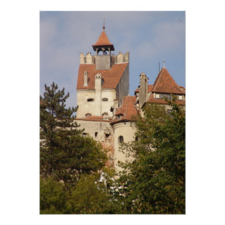 Dracula's castle from below poster