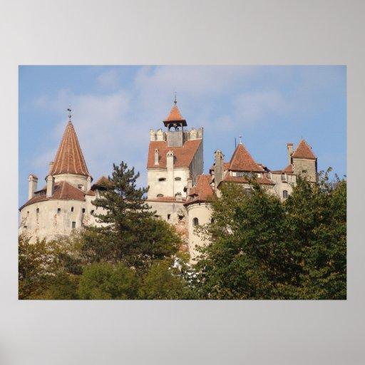 Dracula's castle,hilltop fortress print